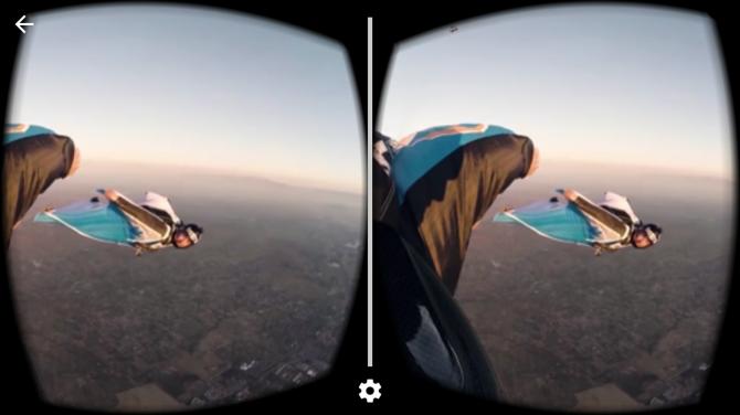 스마트폰 유튜브 앱에서 360 VR 영상을 구동한 화면 - 이정환 제공